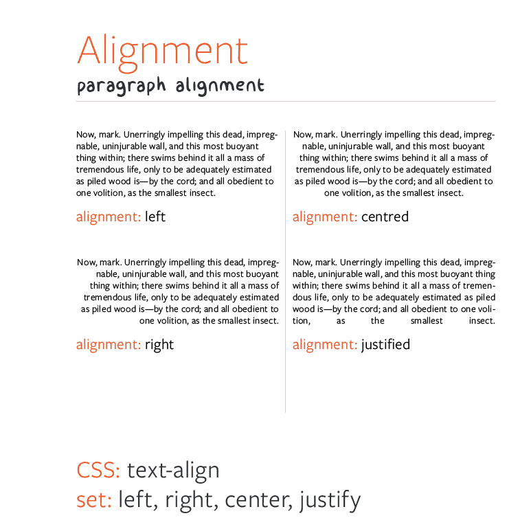 Web Typography - Typesetting Alignment
