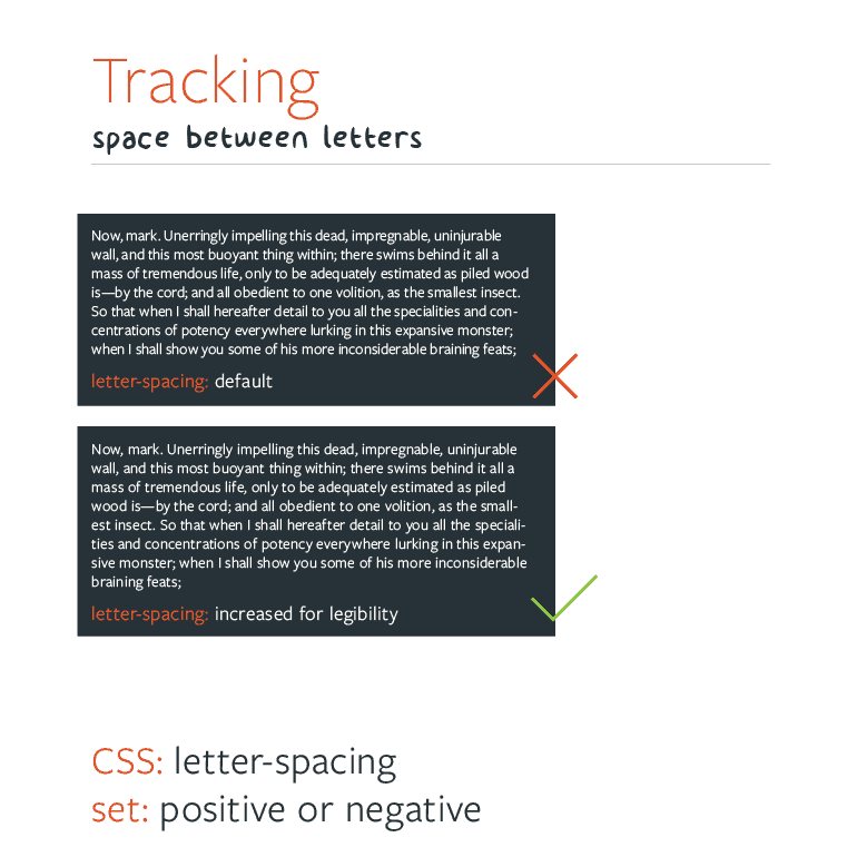 Web Typography - Typesetting Tracking