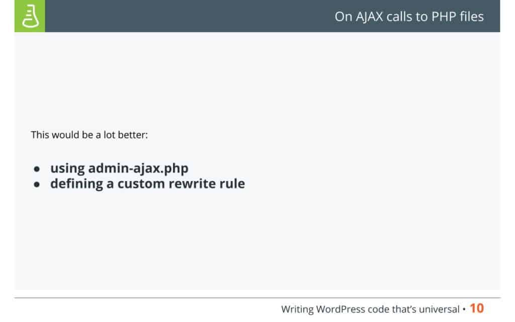 On AJAX calls to PHP files