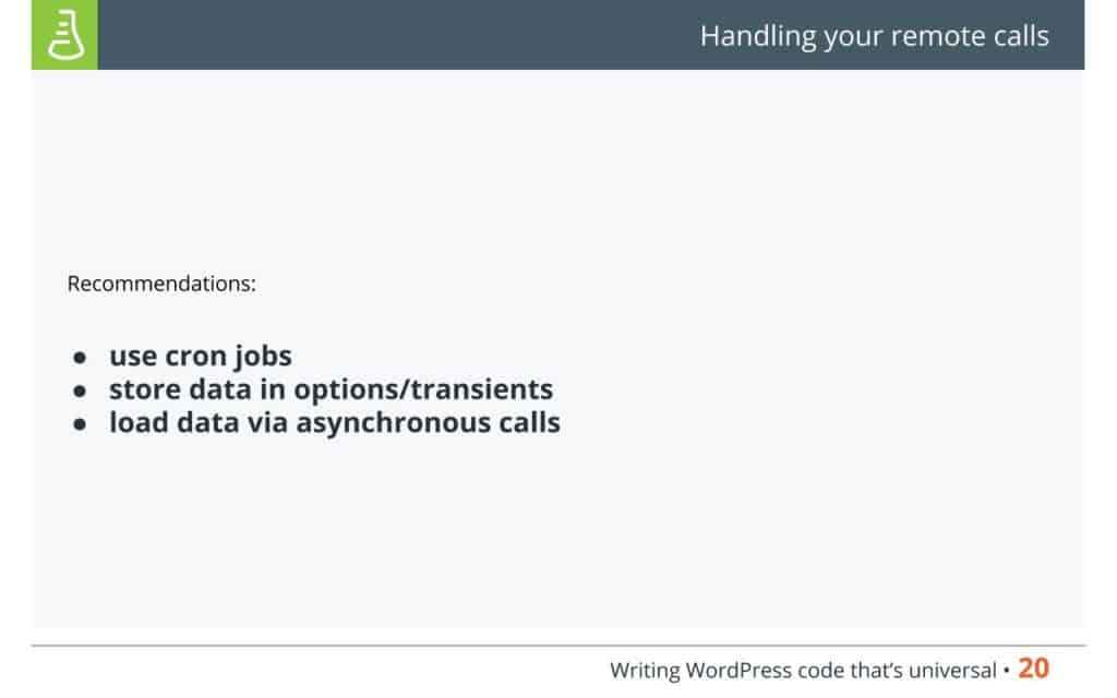 WordPress Code - Handling your remote calls