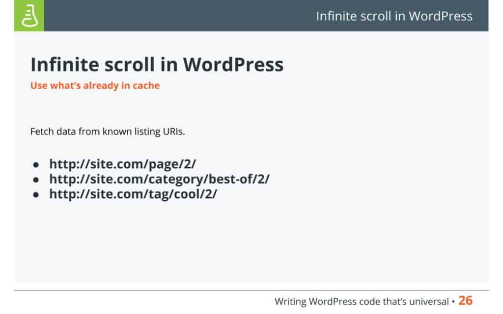 Infinite scroll in WordPress