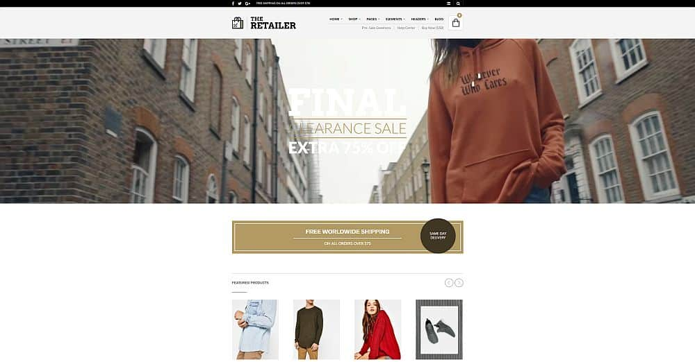 WordPress Themes - The Retailer