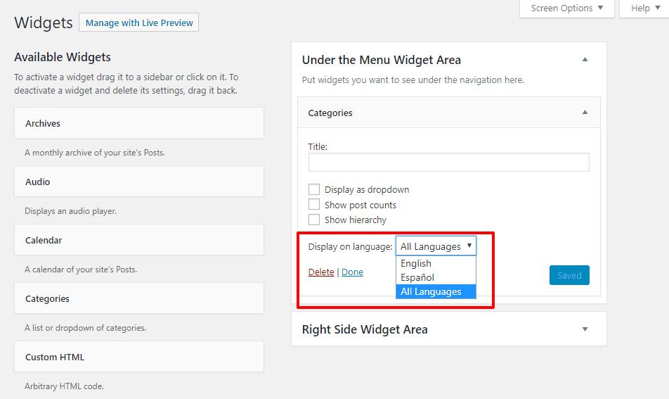 WPML translate widget
