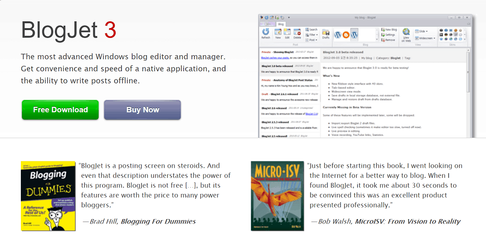 BlogJet Desktop App