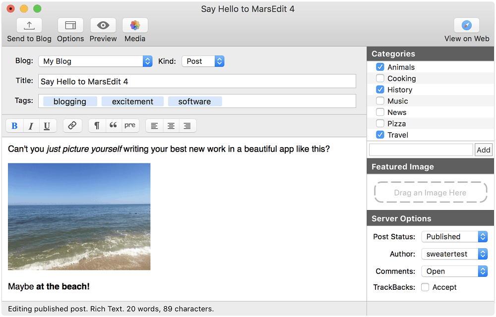 MarsEdit is for Mac users