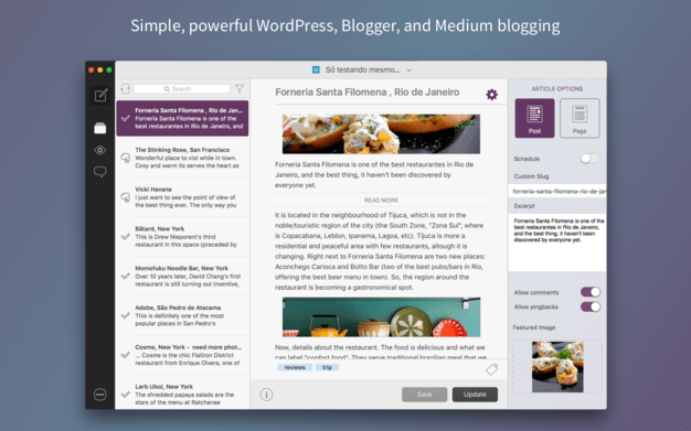 Blogo is for Mac users