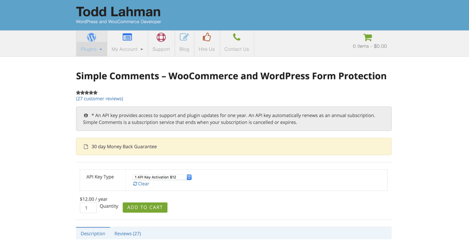 Simple Comments – WooCommerce and WordPress