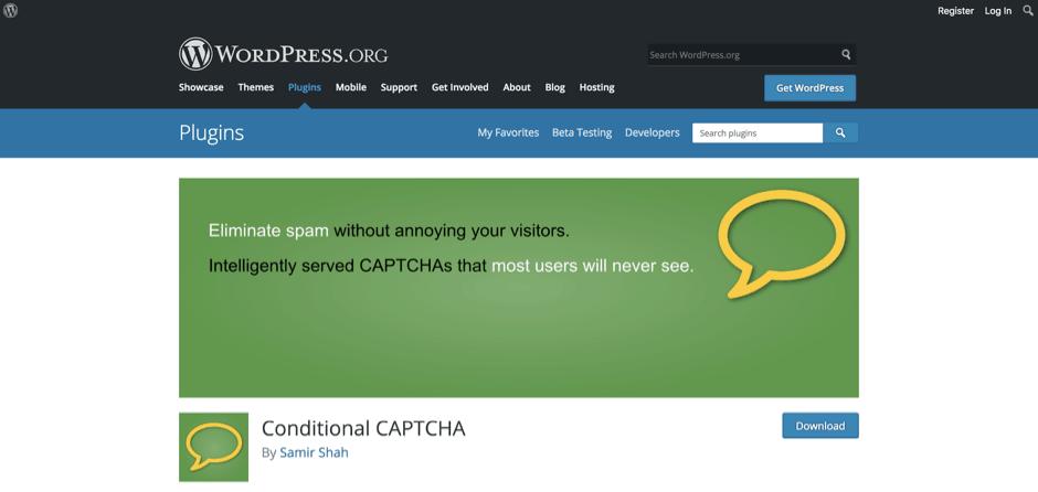 Conditional CAPTCHA