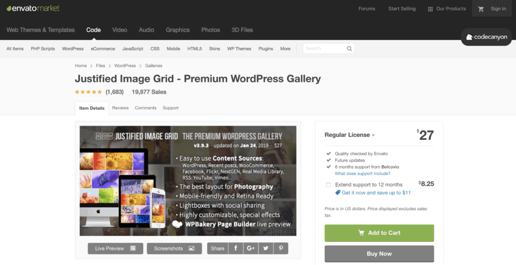 Justified Image Grid - Best WordPress Photo Gallery Plugins in 2019