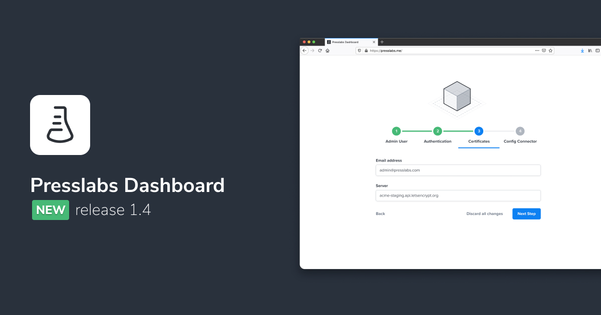 Presslabs Dashboard
