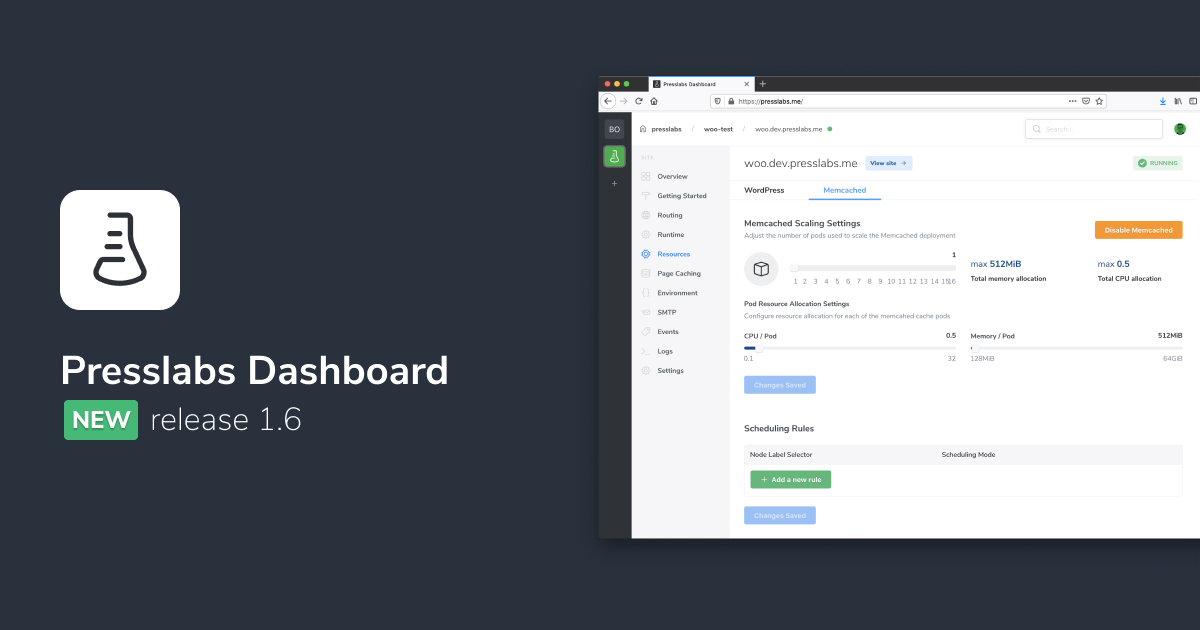 Presslabs Dashboard 1.6
